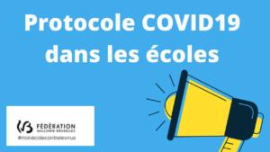 Protocole Covid-19 dans les écoles